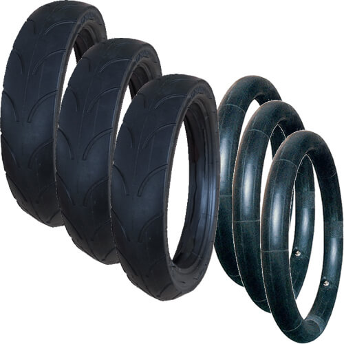 Jane Powertwin replacement Tyres & Inner Tubes - Set of 3 (270 x 47-203)