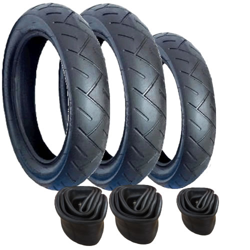 "Mothercare My3 Tyre and Inner Tube Set (12""/10"") - with Slime Protection"