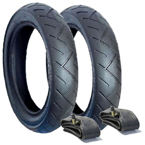 Mothercare My3 Rear Wheel Tyre/Tube Set x 2 (121/2 x 21/4) Hota A-1031