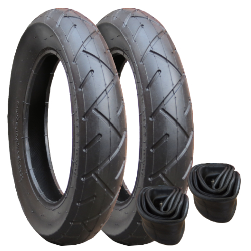 10069 - Tyre and Inner Tube Set x 2 (121/2 x 21/4)