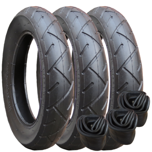"Out n About Nipper Tyre and Inner Tube Set (12"") set of 3"
