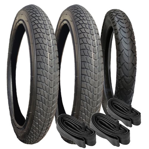 "10200 - Tyre & Inner Tube Set x 3 (16""/12"") for Mountain Buggy Terrain"