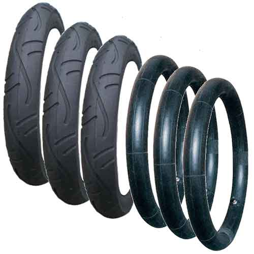 10032 - Budget tyres and inner tubes for Phil & Teds - set of 3