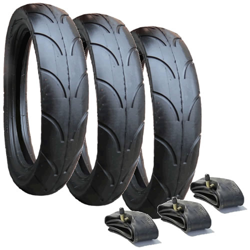10140 - Jane Slalom Pro replacement Tyres & Inner Tubes - Set of 3 (270 x 47-203)