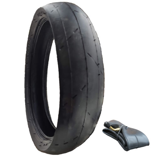 "PHIL /& TEDS NAVIGATOR 12 1//2/""  3 x Pram Tyres /& 3 x Bent Valve Tubes RED LINE"