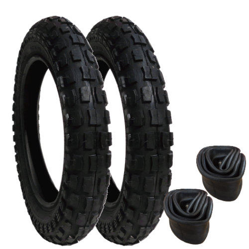 10064 - Tyres and Inner Tubes - Heavy Duty - set of 2 - size 121/2 x 21/4
