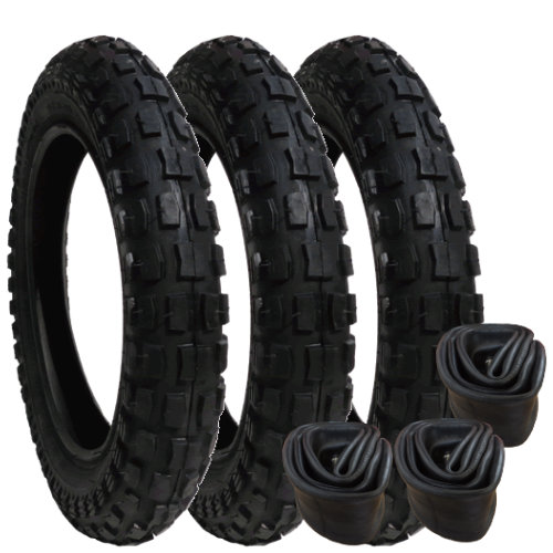 10174 - Mamas & Papas 03 tyres and inner tubes - Heavy Duty - set of 3 - size 12""