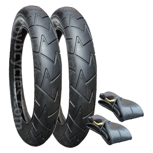 "Mountain Buggy Duet Tyre & Inner Tube Set x 2 (10"") Rubena/Mitas V57"
