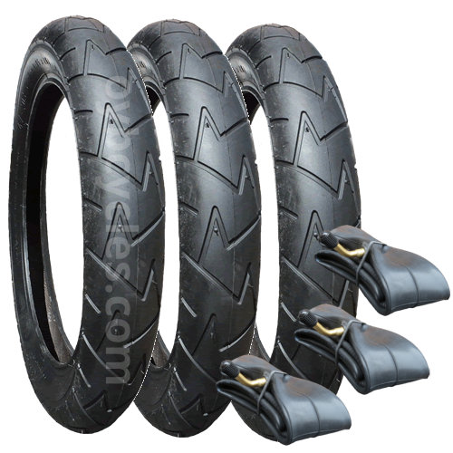 "10121 - Alternative Phil and Teds Dot Tyre/Tube Set x 3 (10"") Rubena V57"