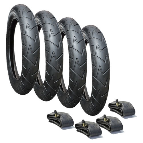 "Mountain Buggy Duet Tyre & Inner Tube Set x 4 (10"") Rubena/Mitas V57"