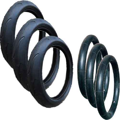 Phil & Teds Verve Tyres with Inner Tubes Set of 3 - 300 x 55